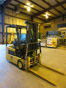 Yale 4 200 Lbs Electric Forklift 48 Volt Model Erp20atf Newly Recon Batt