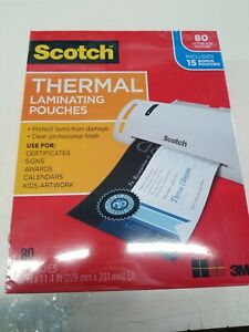 Scotch Thermal Laminating Pouches 65 Pouches 5 Packs