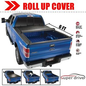 Lock Soft Roll Up Tonneau Bed Cover For 2016 2020 Toyota Tacoma 6 Ft 72 Bed
