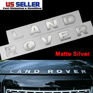 Land Rover Silver 3m Letters Hood Or Trunk Tailgate Emblem Badge Nameplate