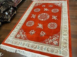 8x10 Chinese Rug Vintage Peking Nichols Authentic Hand Made Oriental Rug 1960s