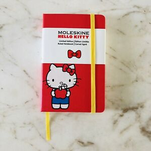 Moleskine Hello Kitty Limited Edition Notebook Pocket Ruled Red Hard Cover