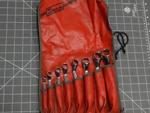 Snap On Tools Short Deep 60 Degree Double Box Wrench 9pc Set 1 4 13 16 C86b 12pt