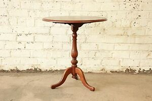 Stickley Brothers Quaint American Mahogany Tilt Top Side Table