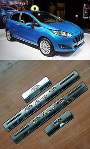 Ford Fiesta 09 15 Sill Door 4pcs Chrome Nikel Protector Trim Rare Cover
