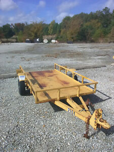 4 wheeler Utility Trailer 4 X 8 Tilting Steel Bed
