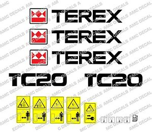 Terex Tc20 Digger Decals Warning Stickers