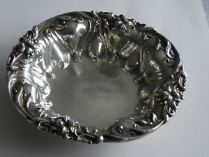 Antique Sterling Silver Small Candy Dish Meriden Britannia Signed G W Russell