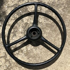 Antique Nos 1940s Sheller 18 X 3 7 8 Splined Steering Wheel Chevy Ford Jeep