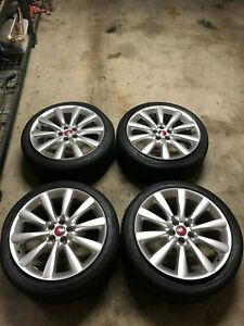 Jaguar Xfr Xf 09 15 19 Inch Wheels And Tires Rims Set Rim Stock Oem Chrome Red