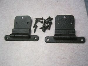 Vintage Nos New Forged Iron Semi Concealed Cabinet Cupboard Door Hinge 528 3