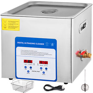 316 Stainless Steel 10 L Liter Industry Heated Ultrasonic Cleaner Heater W timer