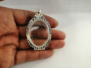 New Case Thai Amulet Silver Solid Type Oval 4 4x3 1 C M