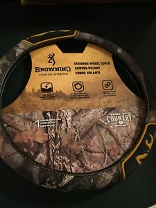 New Browning Steering Wheel Cover Break Up Country Mossy Oak