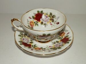 Royal Sutherland Fine Bone China Tea Cup And Saucer Flowers England