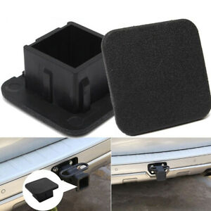 Car Kittings 1 1 4 Black Rubber Trailer Hitch Receiver Cover Cap Plug Parts