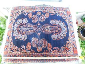 Old Wool Genuine Handmade Area Rug 28x24 Made In India Thick And Heavy