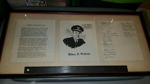 Frame Of Us Navy Third Naval District New York Wilkes D Perkins 30 Signatures