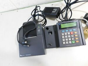 Verifone Omni 395 Credit Card Reader W Printer 900 Plus Cables