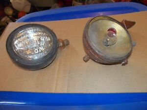 Allis Chalmers Wd45 Wd Tractor Ac Tractor Head Light Rear Red Dot W Bracket