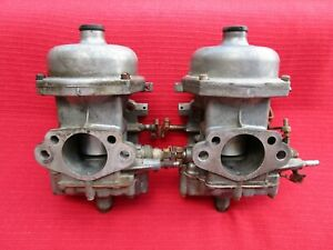 Matched Pair Adjustable Zenith Stromberg 175 Cd Carburetors Triumph Tr4 And Tr4a