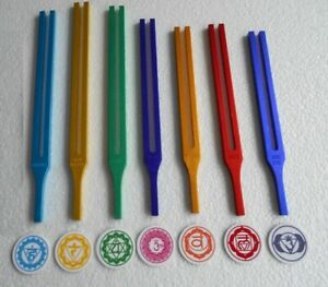 7 Chakra Color Tuning Fork Color Therapy With Sign Activator