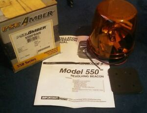 New Pse Amber Rotating Beacon 550 Series 550frah Permanent Mounting