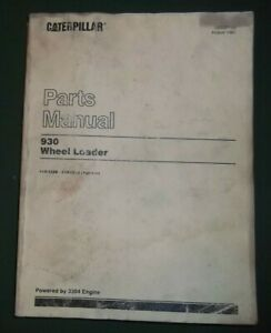 Cat Caterpillar 930 Wheel Loader Parts Book Manual S n 41k3208 5314