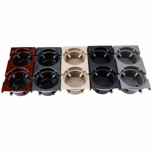 Carbon Fiber Style Car Drink Water Cup Holder Dual Cupholder For Bmw E46 97 06