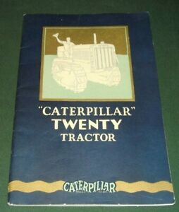 Cat Caterpillar Twenty Tractor Dozer Sales Brochure Book Manual 1927