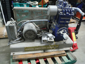 Quincy 340 Qrb Air Compressor Duplex 7 5 Hp 3 phase Pump Only