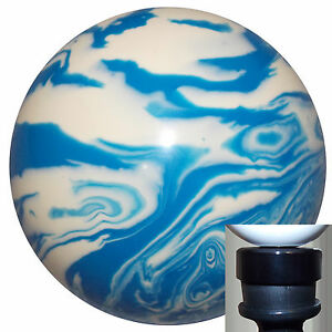 Marbled Blue White Shift Knob With Black Adapter Kit Fits New Dodge Dart