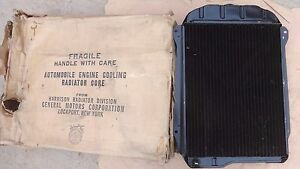Nos 1940 1941 Chevy Radiator Original Gm Harrison Coupe Sedan Delivery