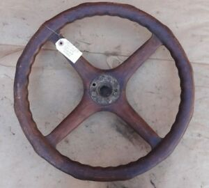 1920 S Wood Steering Wheel Original 18 Vintage Lincoln Chrysler Cadillac Hudson