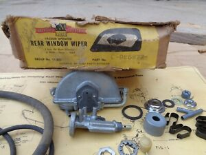 Nos 1941 1948 Chevy Rear Window Wiper Unit Original Gm Accessory Trico