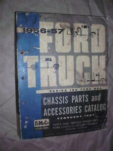 1956 57 Ford Trucks Chassis Parts And Accessories Catalog R081