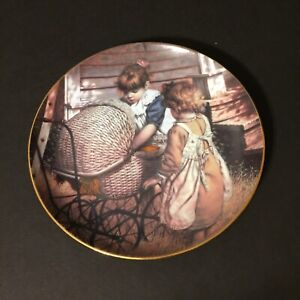Vintage 1988 The Hamilton Collection A Country Childhood Plate 0817a