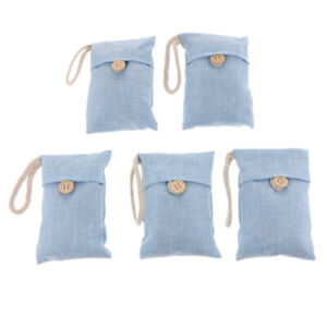 5 Bag Car Home Bamboo Charcoal Activated Air Freshener Odor Deodorant Blue