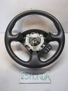 2002 2006 Acura Rsx Type S Leather Steering Wheel Black Oem Jdm Dc5 Dc Rare