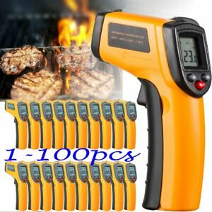 Lot 1 100 Non contact Lcd Ir Laser Infrared Temperature Meter Thermometer Ek