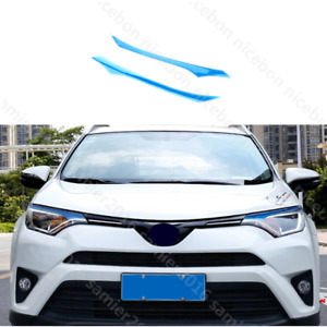 2pc Pvc Brow Truck Parts Front Head Light Cover Fit For Toyota Rav4 2016 2018