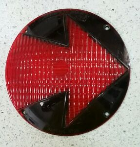 Cats Eye 8758 45 Red Arrow Truck Bus Turn Signal Lens 8758 Vintage Ratrod