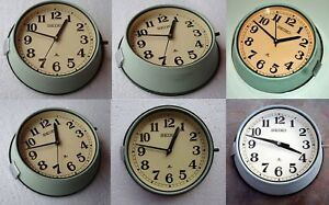 Lot Of 10 Vintage 1980 S Slave Maritime Clock Nautical Ship Quartz Seiko Japan