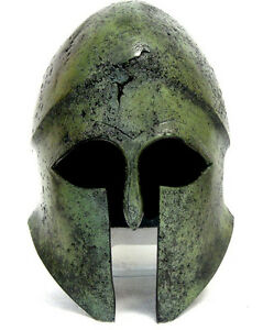 100 Bronze Ancient Greek Helmet From Thessaly Museum Replica Reproduction
