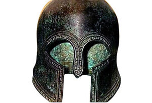 100 Bronze Ancient Greek Helmet From Olympia Museum Replica Reproduction