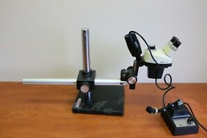 Leica Stereo Zoom 4 With Leica Instruments Boom Stand W Leica External Light