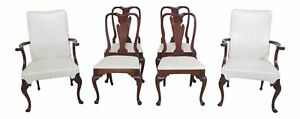 Lf47235ec Set Of 6 Hickory Chair Co Mahogany Dining Room Chairs