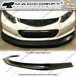 For 12 13 Honda Civic 2dr Coupe Mda Style Front Bumper Lip Chin Splitter Kit