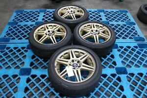 Jdm Sparco Rally Wheels 16x7 Offset 50 Gold With Potenza Tires 205 50r16