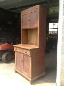 Wonderful Very Small Step Back Cupboard Mostly Pine Handmade Would Fit Anywhere